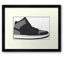 "Air Jordan I (1) ""Shadow"" Framed Print"