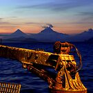 Volcanos at Sunset #2  by lanebrain photography