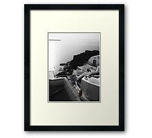 Santorini Hillside Framed Print
