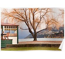 Lakeside cafe, Queenstown Poster
