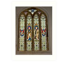 Window #1 East Witton Church Art Print