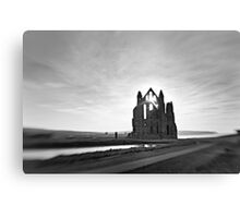 12th century Whitby Abbey Canvas Print