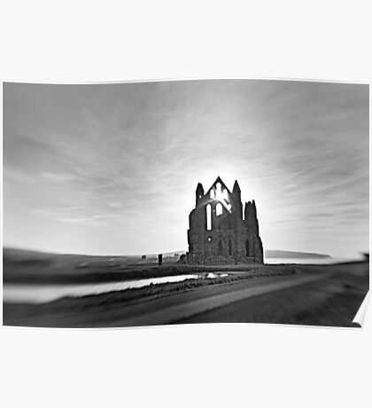 12th century Whitby Abbey Poster