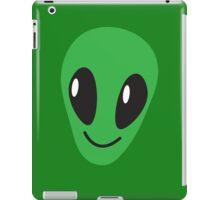 Alien green man face smiling iPad Case/Skin