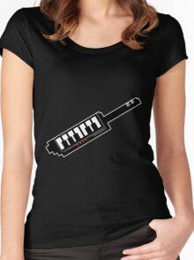 8Bit Keytar Pixels Women's Fitted Scoop T-Shirt