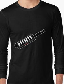 8Bit Keytar Pixels Long Sleeve T-Shirt