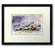Red Car Maserati 250 Start France GP Framed Print