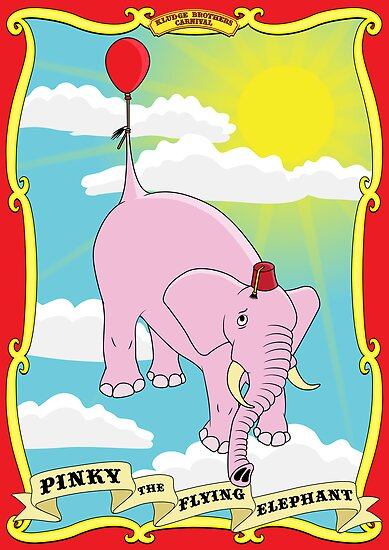 Pinky the Flying Elephant by FlamingDerps