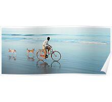 Bike on the beach in Goa Poster