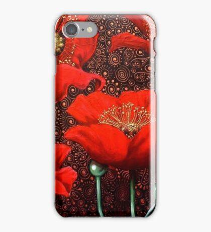 Dancing Poppies II iPhone Case/Skin