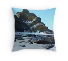 Rocks and Beaches Throw Pillow