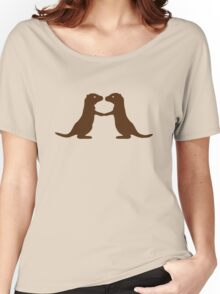 Otters Holding Hands Women's Relaxed Fit T-Shirt
