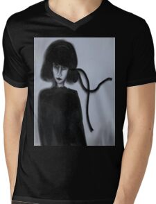 The Black Ribbon Updated Mens V-Neck T-Shirt