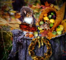 """A Woodland Thanksgiving With Alex & Izzy"" by Melinda Stewart Page"