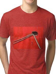 Red Ship Abstract Tri-blend T-Shirt