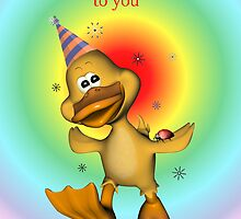 Happy Birthday Duckie card by Dawnsky2