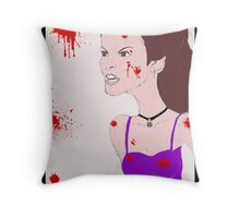 She couldn't control the rage inside Throw Pillow