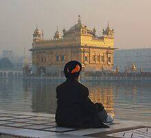 At Peace At The Golden Temple, Amritsar, Punjab, India by RIYAZ POCKETWALA