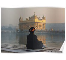 At Peace At The Golden Temple, Amritsar, Punjab, India Poster