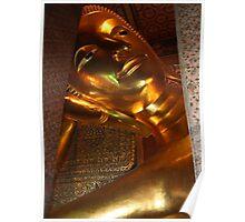 Reclining Buddha, Bangkok, Thailand Poster
