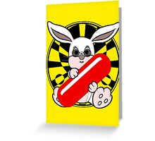 Follow The White Rabbit? - Pince Nez Edition Greeting Card