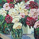 Flowers on Table by Richard Nowak