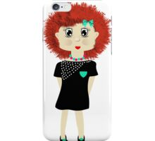 Cute Red Haired Cartoon Girl Illustration iPhone Case/Skin