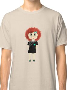 Cute Red Haired Cartoon Girl Illustration Classic T-Shirt