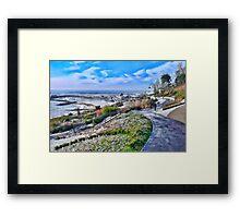 Snowy Lyme Regis Framed Print