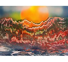 Striated Landscape Photographic Print
