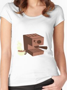 Italian coffee machine! espresso Women's Fitted Scoop T-Shirt