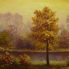 autumn sunset by edisandu
