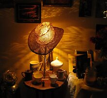 Lamp Shade Series #4...Anywhere Your Hat Lands by trueblvr