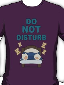 Snorlax 'Do Not Disturb' T-Shirt