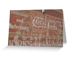 Coca Cola ~ over and over Greeting Card