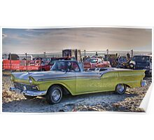Fairlane Convertible, Oreti Beach Poster