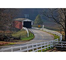Jackson's Saw Mill Covered Bridge Photographic Print