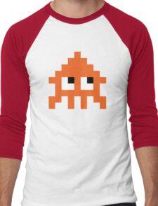 Pixel Squid (Splatoon Inspired) Men's Baseball ¾ T-Shirt