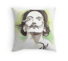 Salvador Dali drawing Throw Pillow