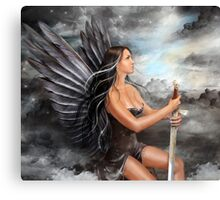 """Black Angel"" Canvas Print"