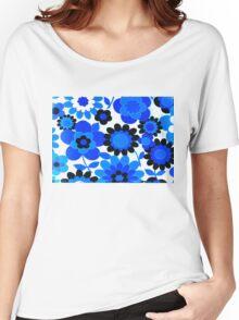 flower power in blue Women's Relaxed Fit T-Shirt