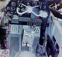 Cockpit, Lockheed P38 Lightning by Mike Edwards
