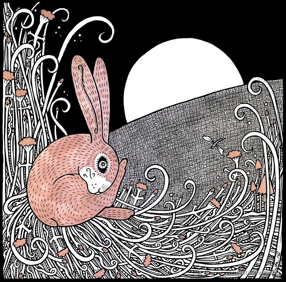 Full Moon Hare by Anita Inverarity