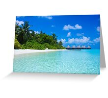 Honeymoon in the Maldives Greeting Card