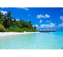 Honeymoon in the Maldives Photographic Print