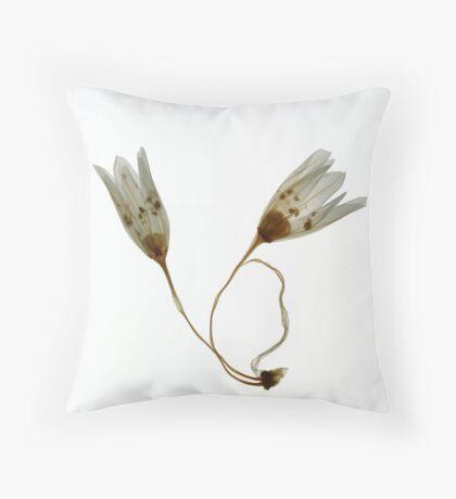 two white flowers Throw Pillow