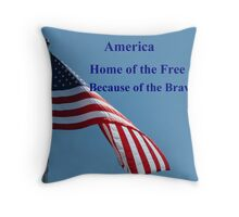 Flag, Home of the Free Throw Pillow