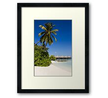 Water Villas in the Maldivian Atolls - Eden on Earth Framed Print