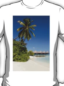 Water Villas in the Maldivian Atolls - Eden on Earth T-Shirt