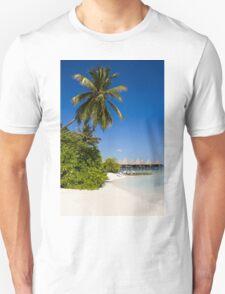 Water Villas in the Maldivian Atolls - Eden on Earth Unisex T-Shirt